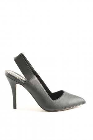 Aldo Spitz-Pumps hellgrau Business-Look