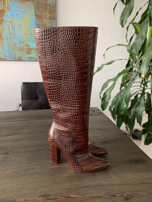 Aldo Heel Boots cognac-coloured leather
