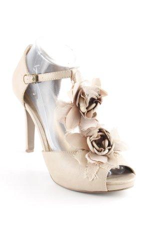 Aldo T-Steg-Sandaletten creme Blumenmuster Elegant