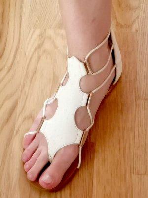 Aldo Sandalo toe-post bianco-oro