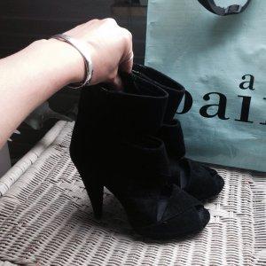 Aldo Plateauzool sandalen zwart Suede