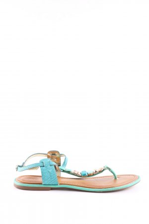 Aldo Toe-Post sandals turquoise casual look