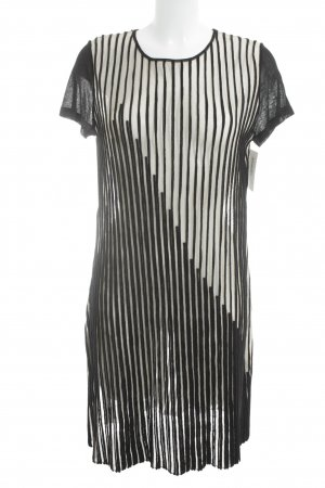 Aldomartins Shortsleeve Dress black-beige striped pattern casual look