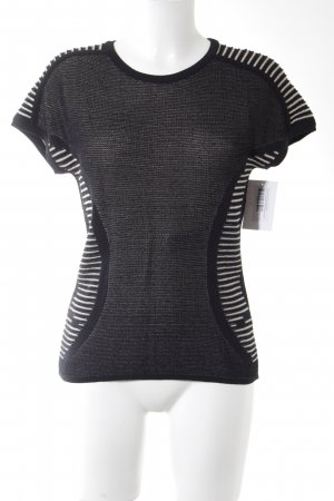Aldomartins Short Sleeve Sweater black-natural white flecked casual look