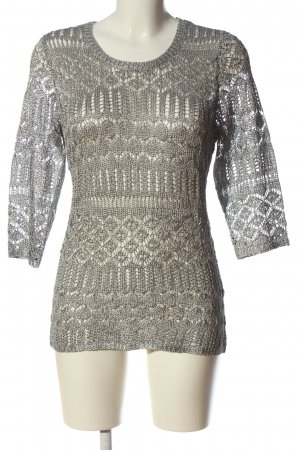 Alessa W. Crochet Sweater silver-colored weave pattern casual look