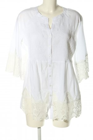 Alessa W. Long Sleeve Blouse white business style
