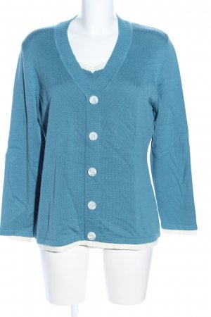 Alessa W. V-Neck Sweater blue casual look