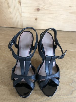 Alessandro Bonciolini Strapped Sandals black leather