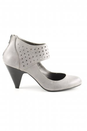 Alessandro Bonciolini Strapped pumps light grey elegant