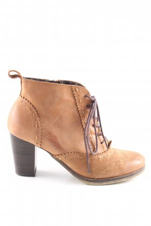 Alessandro Bonciolini Lace-up Booties light orange business style