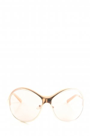 Alessandro Dell' Acqua runde Sonnenbrille creme Casual-Look