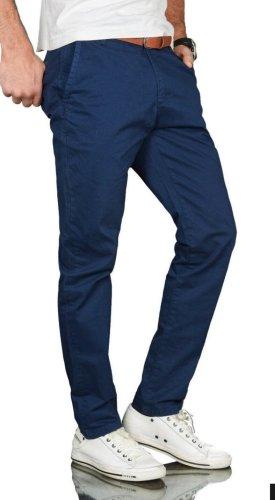 Alessandro Pantalon chinos bleu foncé-bleu