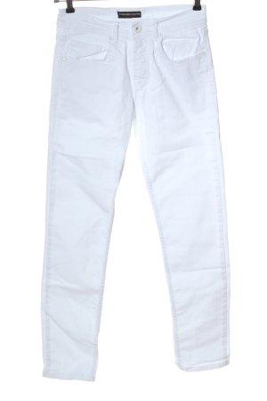 Alessandro Jeans slim blanc style décontracté