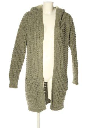 Alessandro Cardigan tricotés kaki torsades style décontracté