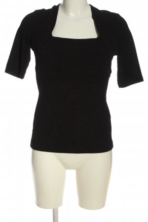 Alex & Co. Blusa de manga corta negro moteado look casual