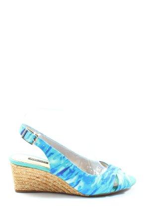 alex marie Sandały klinowe na obcasie niebieski-turkusowy Na całej powierzchni