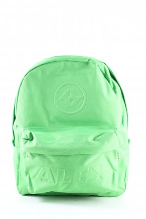 Alex Mochila escolar verde look casual
