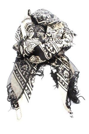 Alexa Tela palestino negro-blanco estampado gráfico look casual