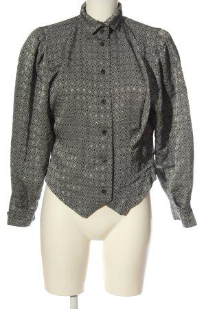 Alexander Camicia blusa grigio chiaro-nero stampa integrale stile casual