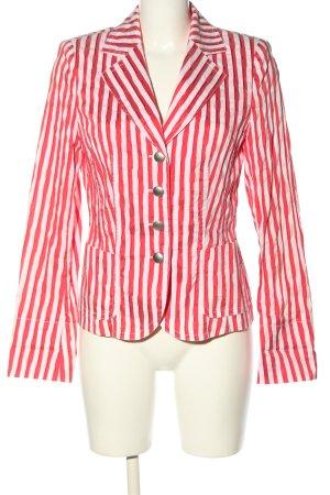Alexander Krótka marynarka czerwony-biały Wzór w paski W stylu casual