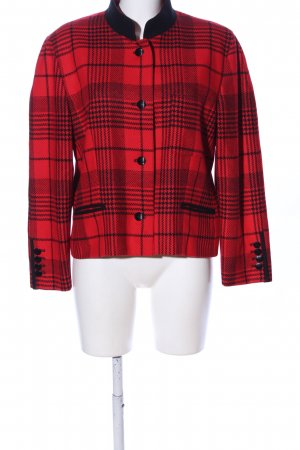 Alexander Short Jacket red-black check pattern casual look