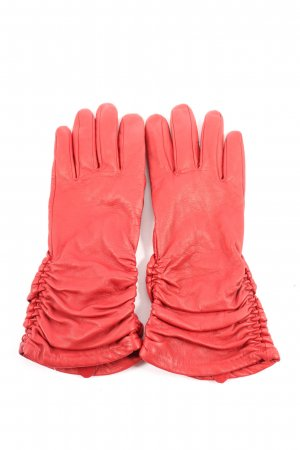 Alexander Faux Leather Gloves red casual look