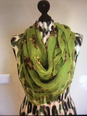 Alexander McQueen Neckerchief green-gold-colored