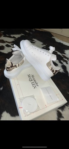 Alexander McQueen Heel Sneakers white leather