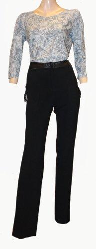 Alexander McQueen Stretch broek zwart Scheerwol