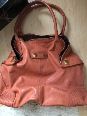 Alexander Mc Queen shopper apricot Tasche manga coral Gold
