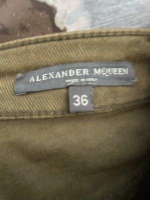 Alexander McQueen Dopasowane jeansy ochra