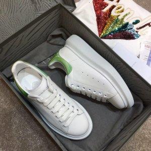Alexander McQueen Basket montante blanc-vert clair