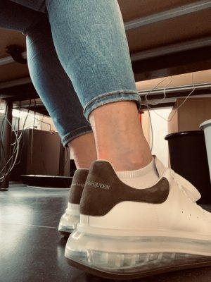 Alexander McQueen Trampki na platformie biały-khaki