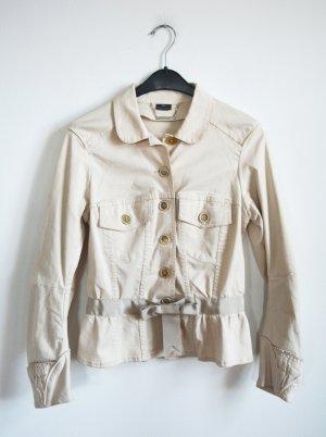 Alexander McQueen Korte blazer licht beige Katoen