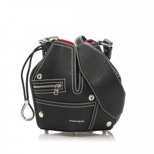 Alexander McQueen Crossbody bag black leather