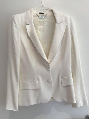 Alexander McQueen Jersey Blazer white-natural white