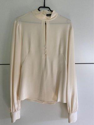 Alexander McQueen Jedwabna bluzka kremowy
