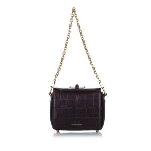 Alexander McQueen Sac bandoulière violet cuir