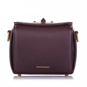 Alexander McQueen Crossbody bag dark red leather