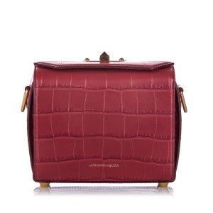 Alexander McQueen Box 19 Embossed Leather Crossbody Bag