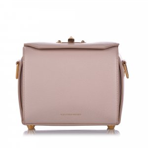 Alexander McQueen Crossbody bag beige leather