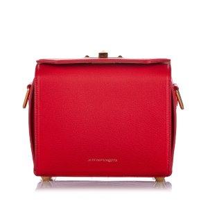 Alexander McQueen Sac bandoulière rouge cuir