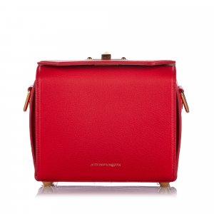 Alexander McQueen Crossbody bag red leather