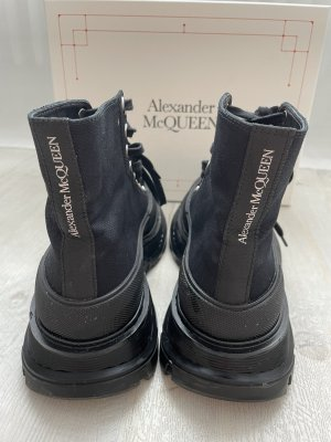 Alexander McQueen Botte à plateforme noir