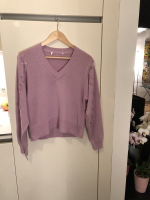 Alexander McQueen Knitted Sweater mauve