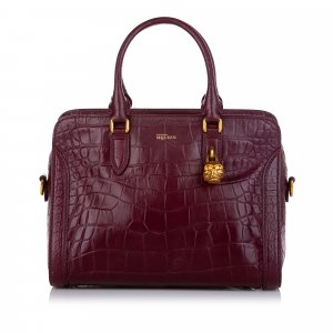 Alexander McQueen Satchel bordeaux leather