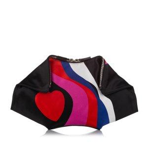 Alexander McQueen De Manta Printed Satin Clutch Bag