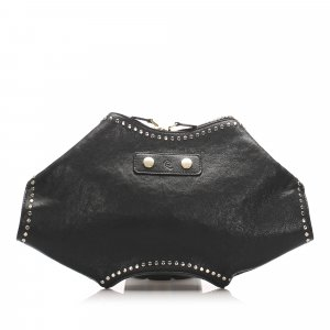 Alexander McQueen De Manta Studded Leather Clutch Bag