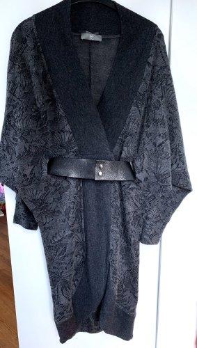 Alexander McQueen Wollen jurk zwart-donkergrijs