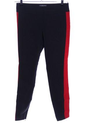 Alexander McQueen Hoge taille broek blauw-rood casual uitstraling
